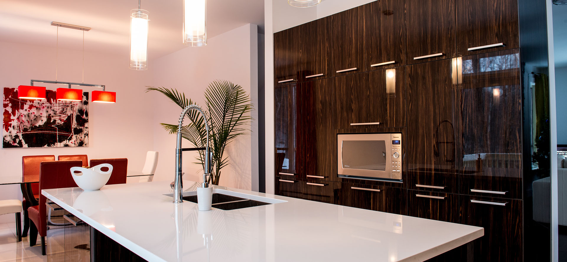 cuisine moderne au fini lustr sherbrooke. Black Bedroom Furniture Sets. Home Design Ideas
