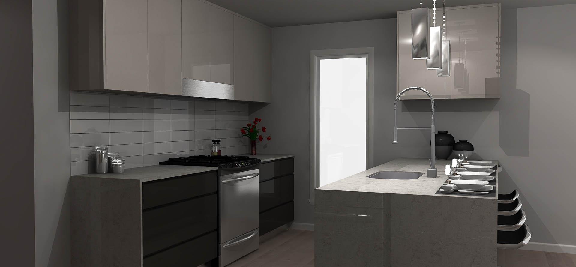 Plan de cuisine en 3d for Projet de cuisine en 3d