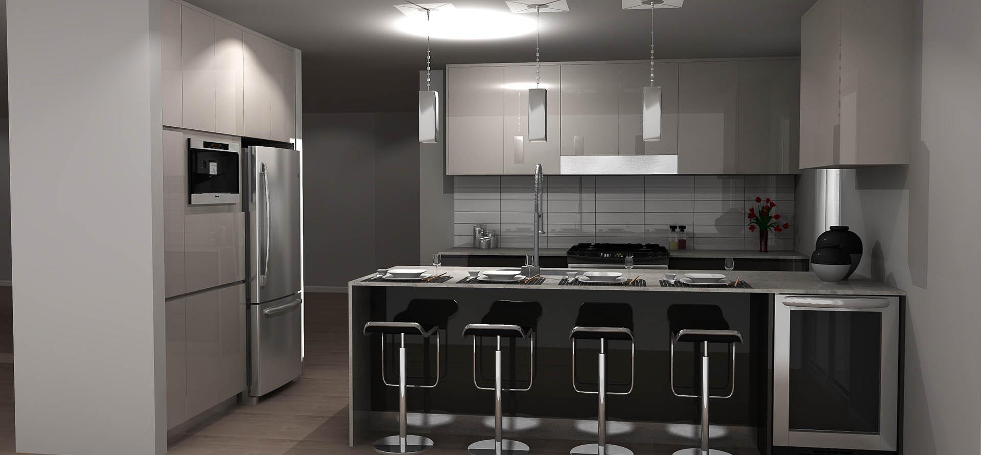 Plan de cuisine en 3d for 3d cuisine deluxe